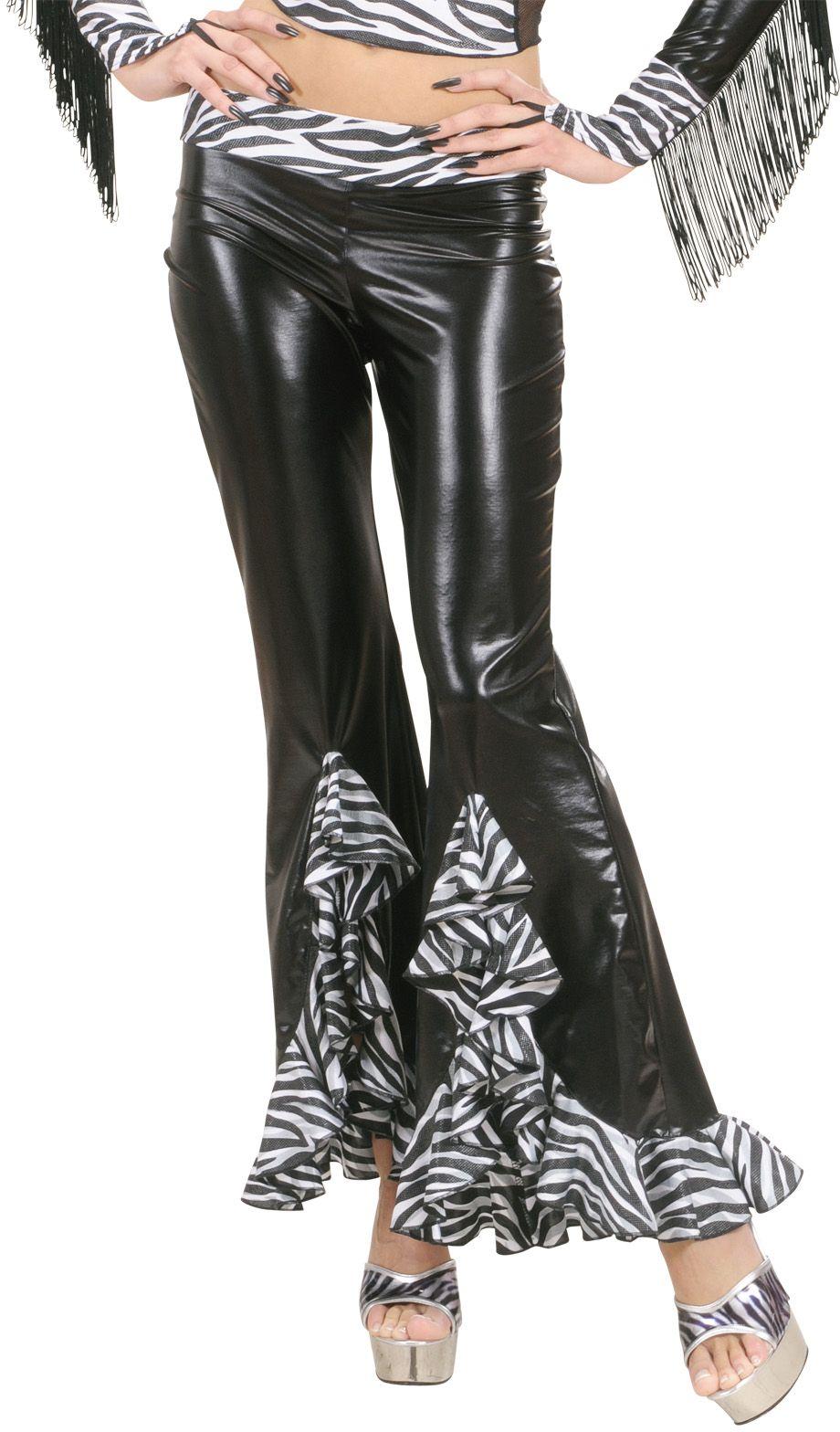 Zebra print broek dames