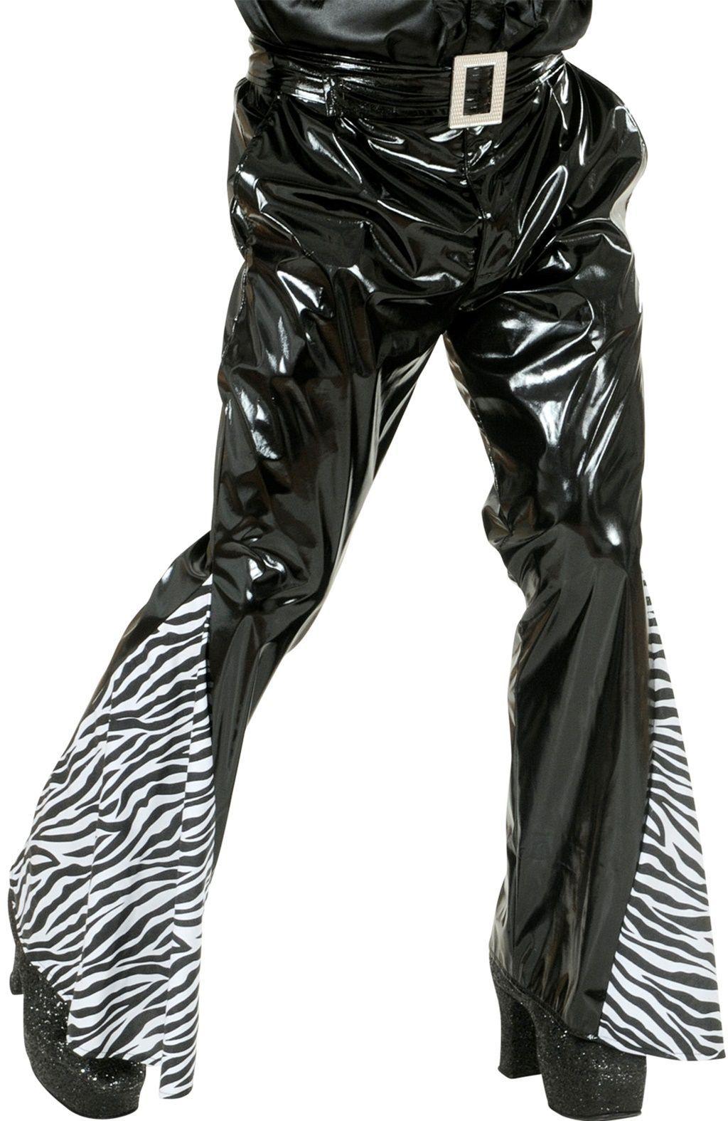 Zebra print broek heren