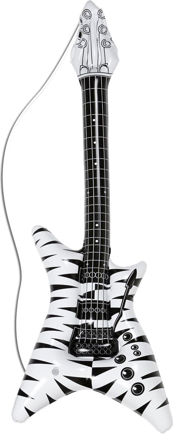 Zebra print hardrock gitaar opblaasbaar