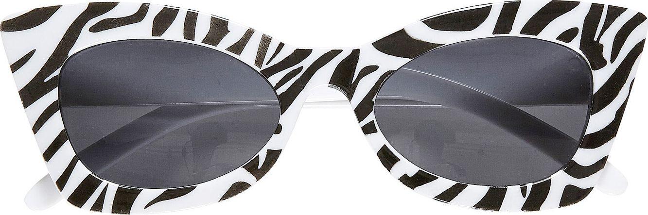 Zebra rockabilly bril