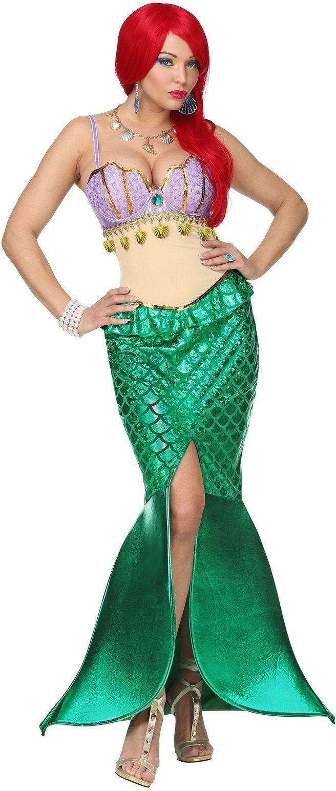 Zeemeermin Ariël jurk vrouw