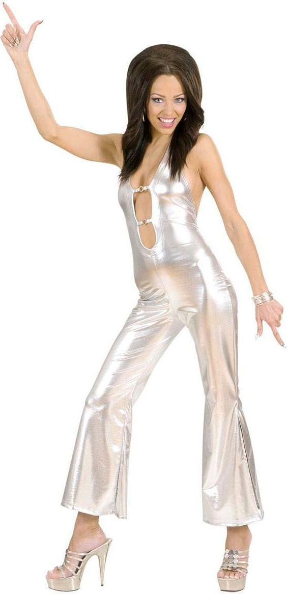 Zilver disco outfit dames