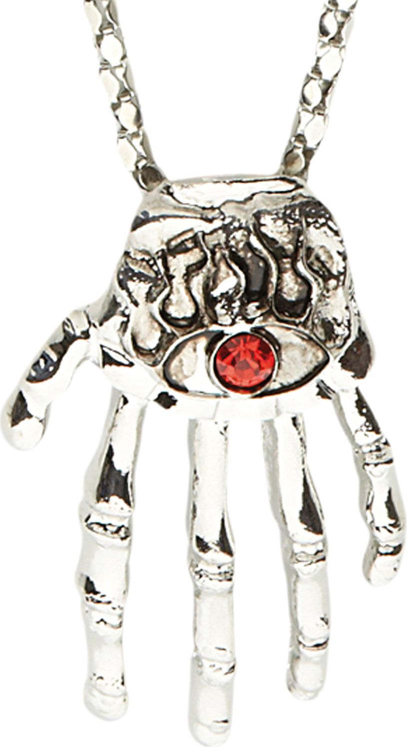Zilveren hand halsketting