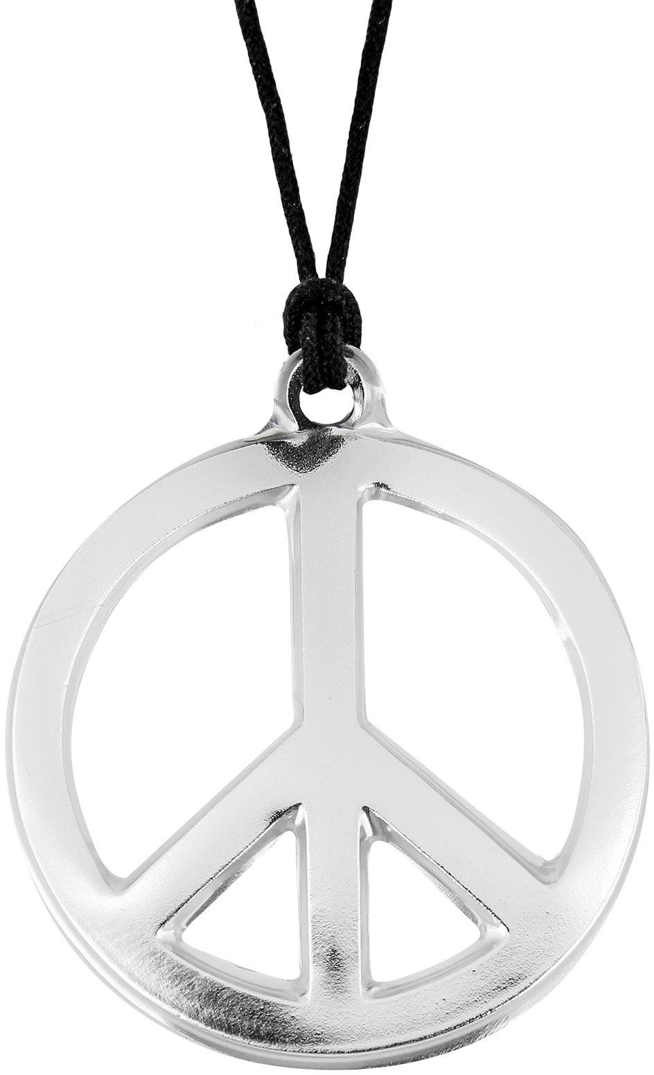 Zilveren hippie ketting