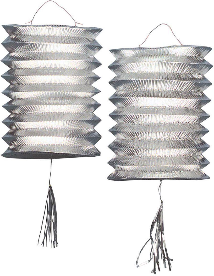 Zilveren lantaarns 2 stuks