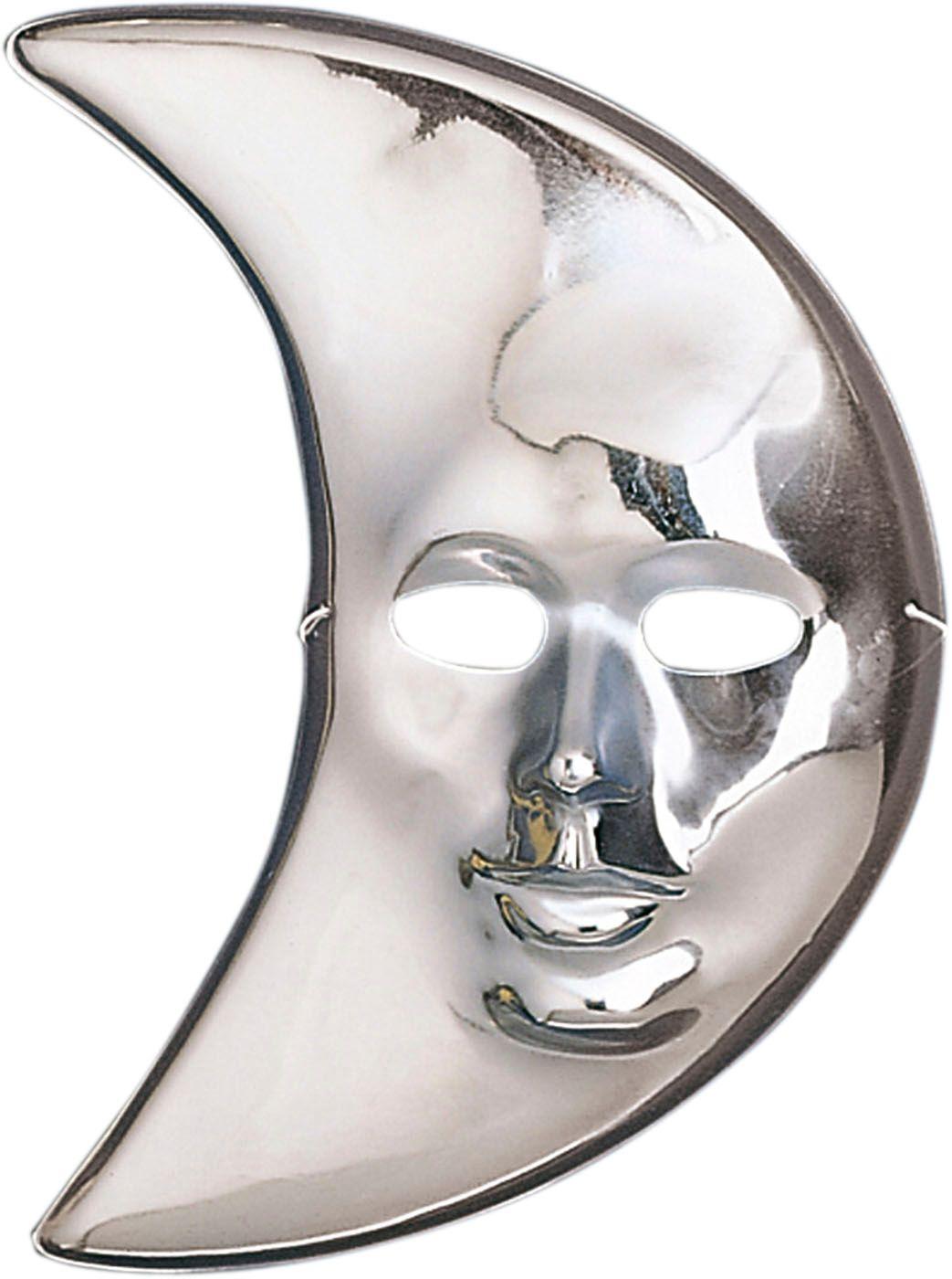 Zilveren maan masker