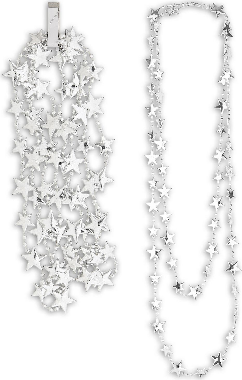 Zilveren metallic sterren ketting