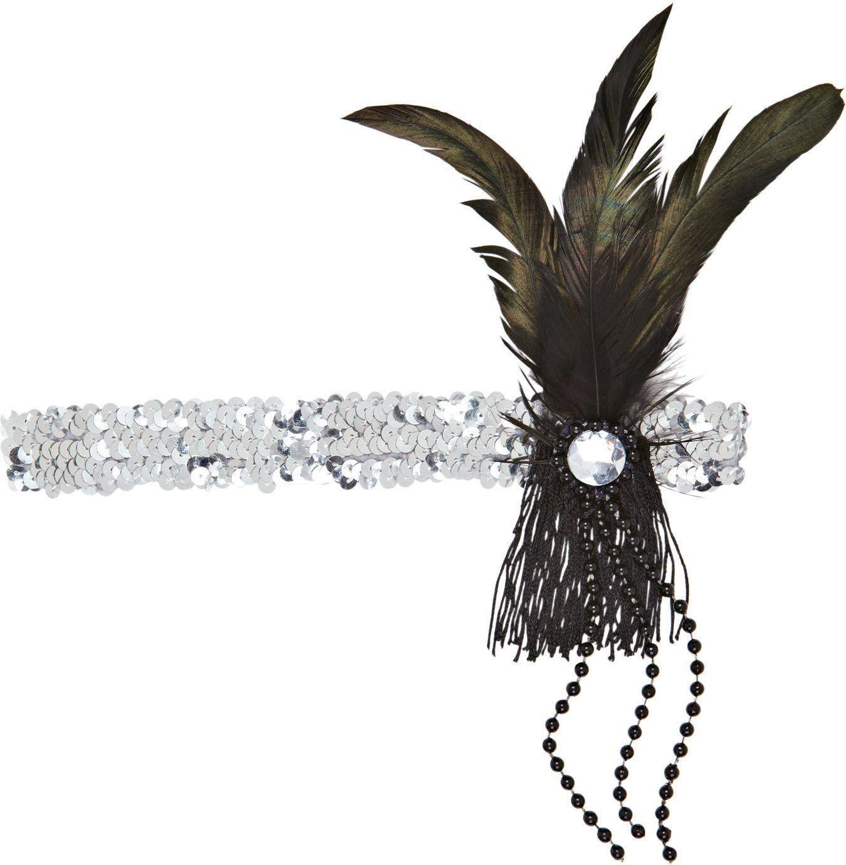 Zilveren pailletten flapper hoofdband