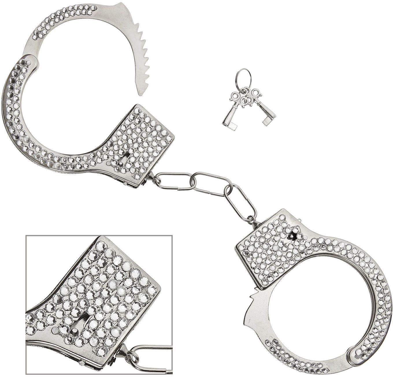 Zilveren rijnsteen handboeien