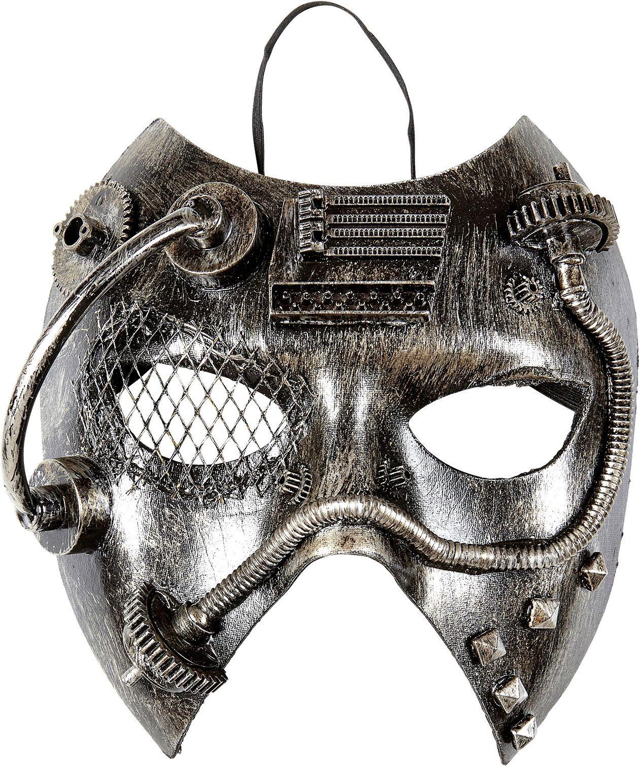 Zilveren steampunk masker