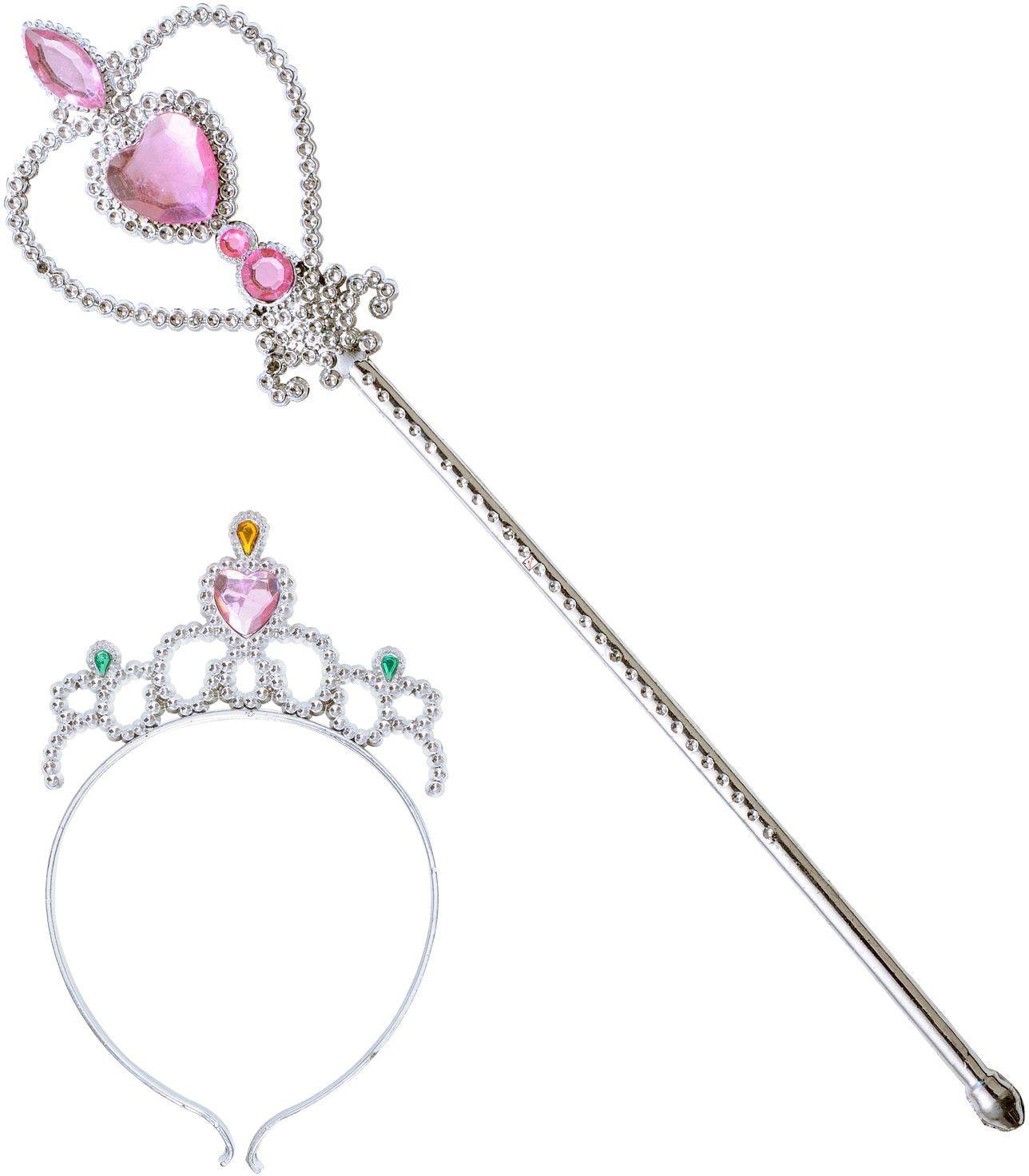 Zilveren tiara en staf