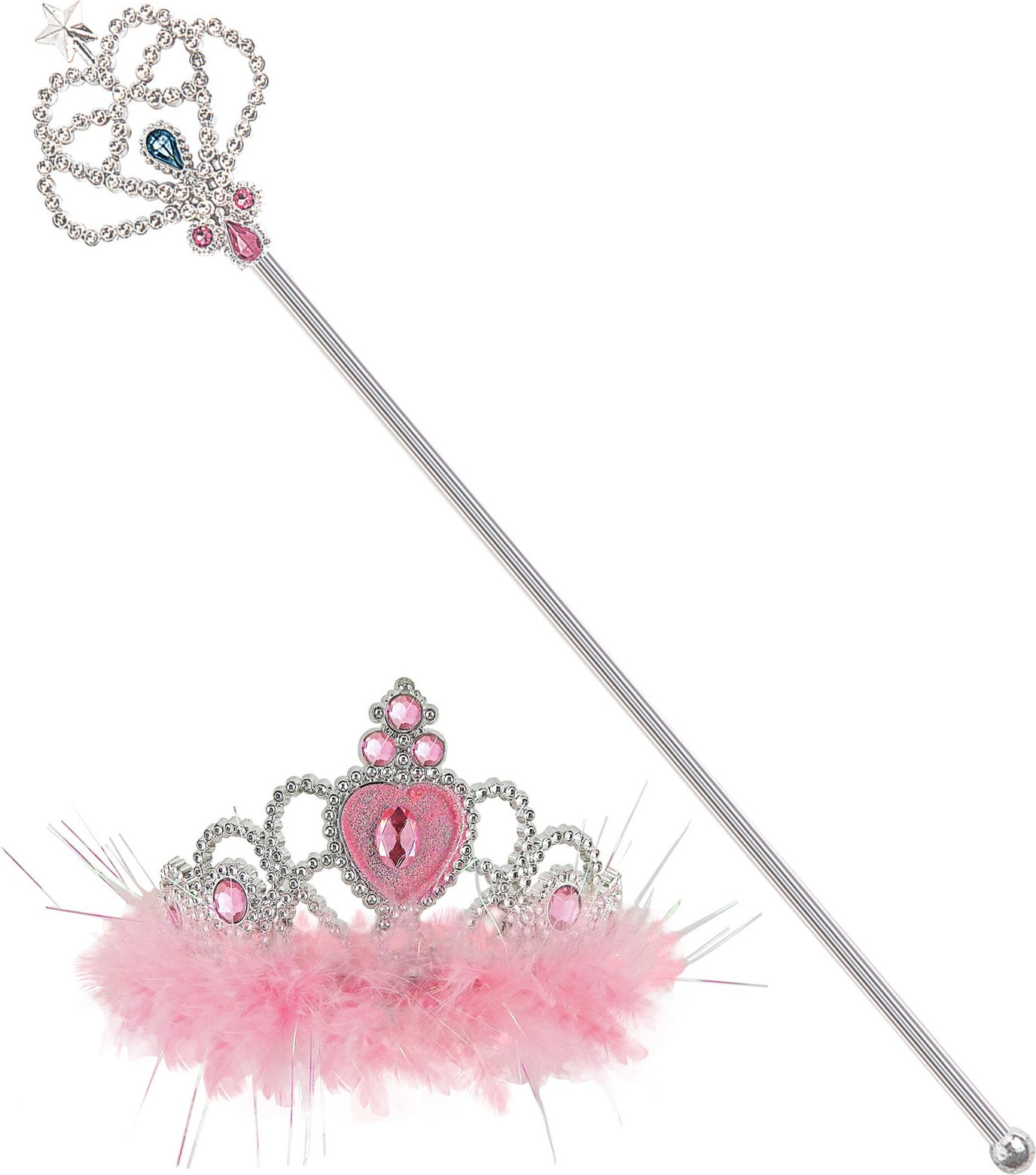 Zilveren tiara met scepter kind