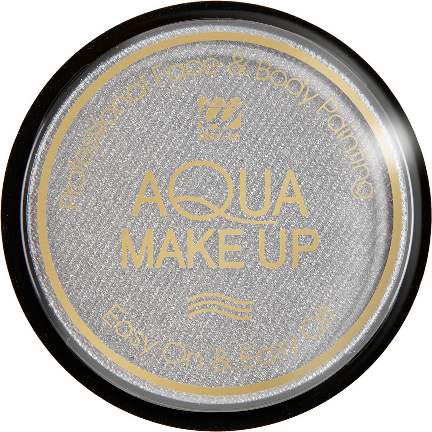 Zilveren waterbasis make-up metallic