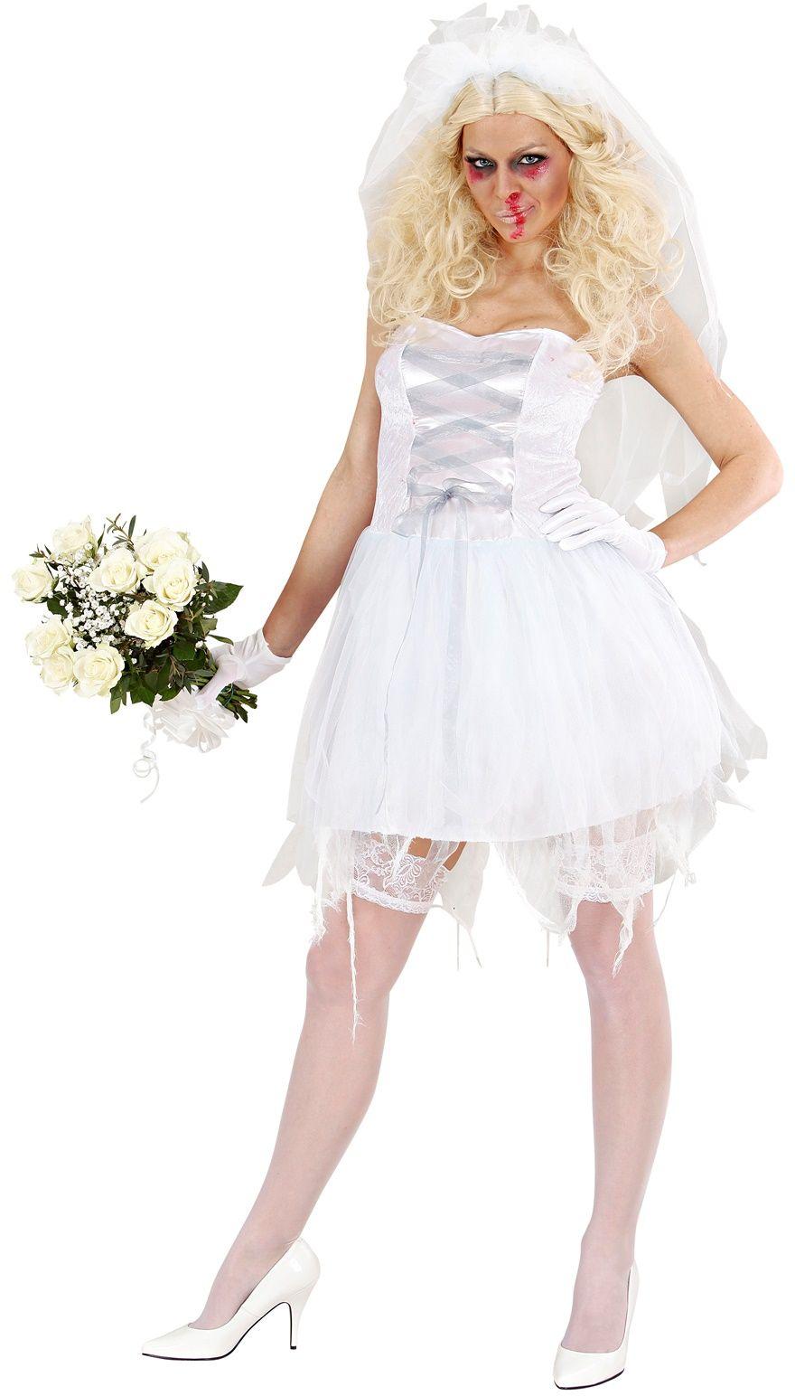 Zombie bruid kostuum dames