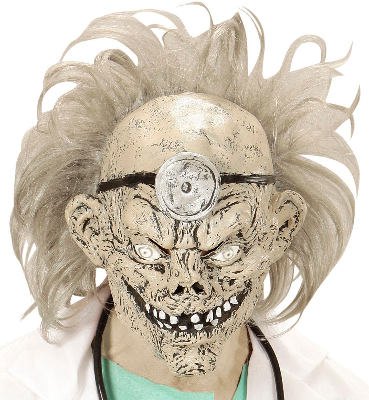 Zombie dokter masker met haar