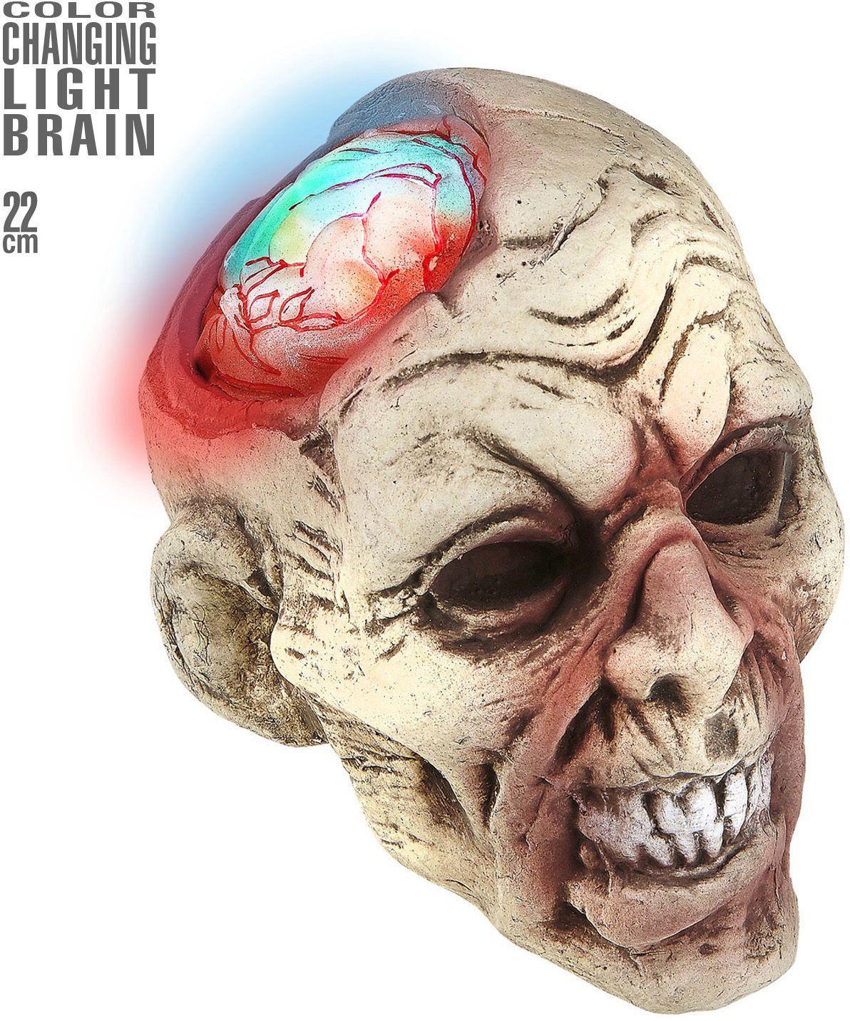 Zombie gezicht met verlichting