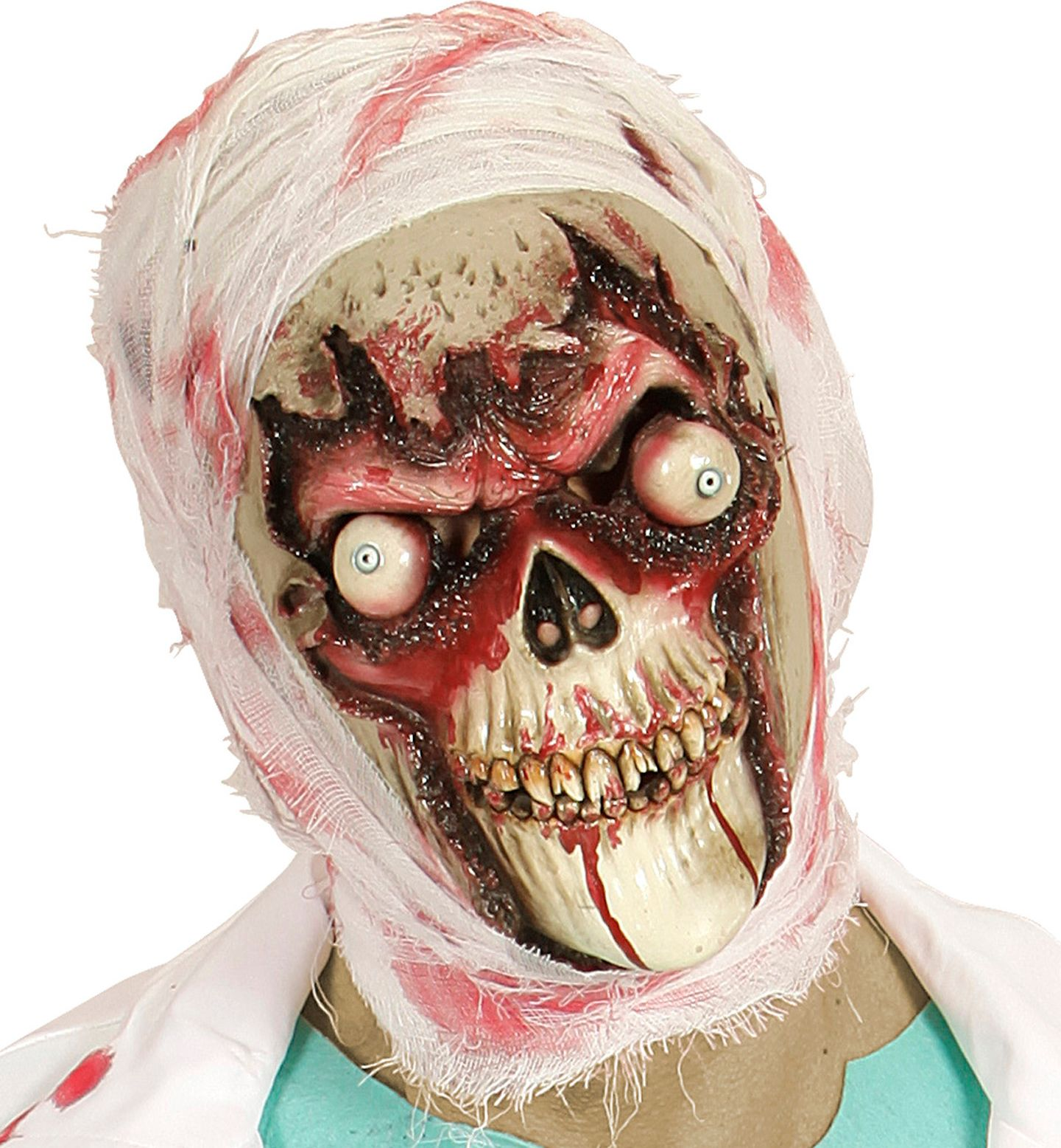Zombie schedel masker