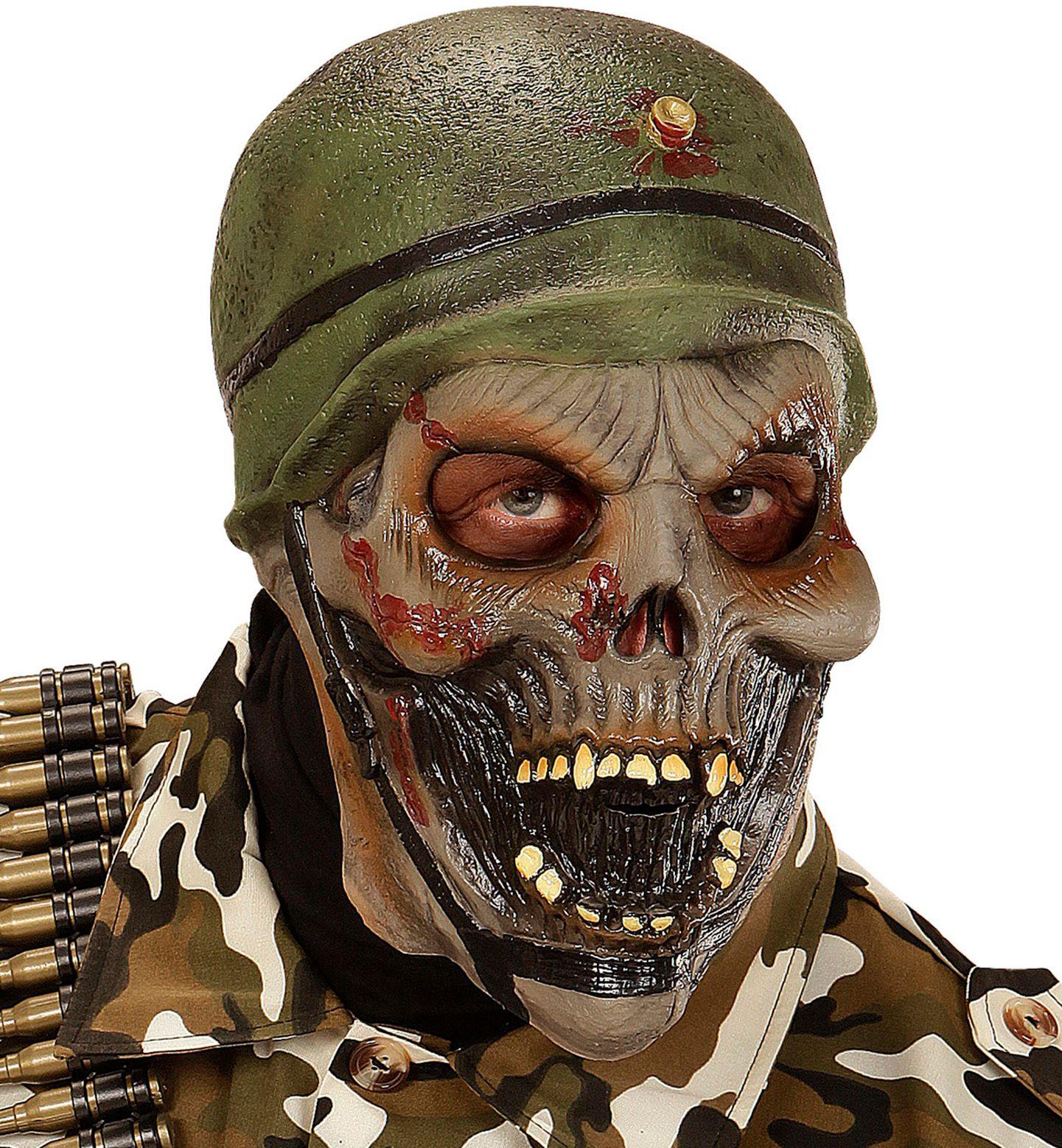 Zombie soldaat masker