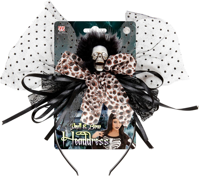 Zwart-beige halloween haarband