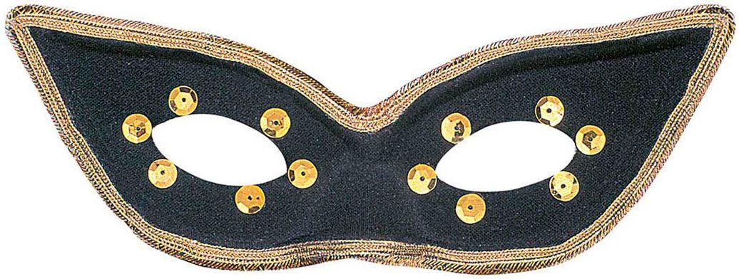 Zwart carnaval oogmasker