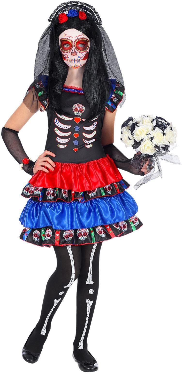 Zwart dia de los muertos outfit kind
