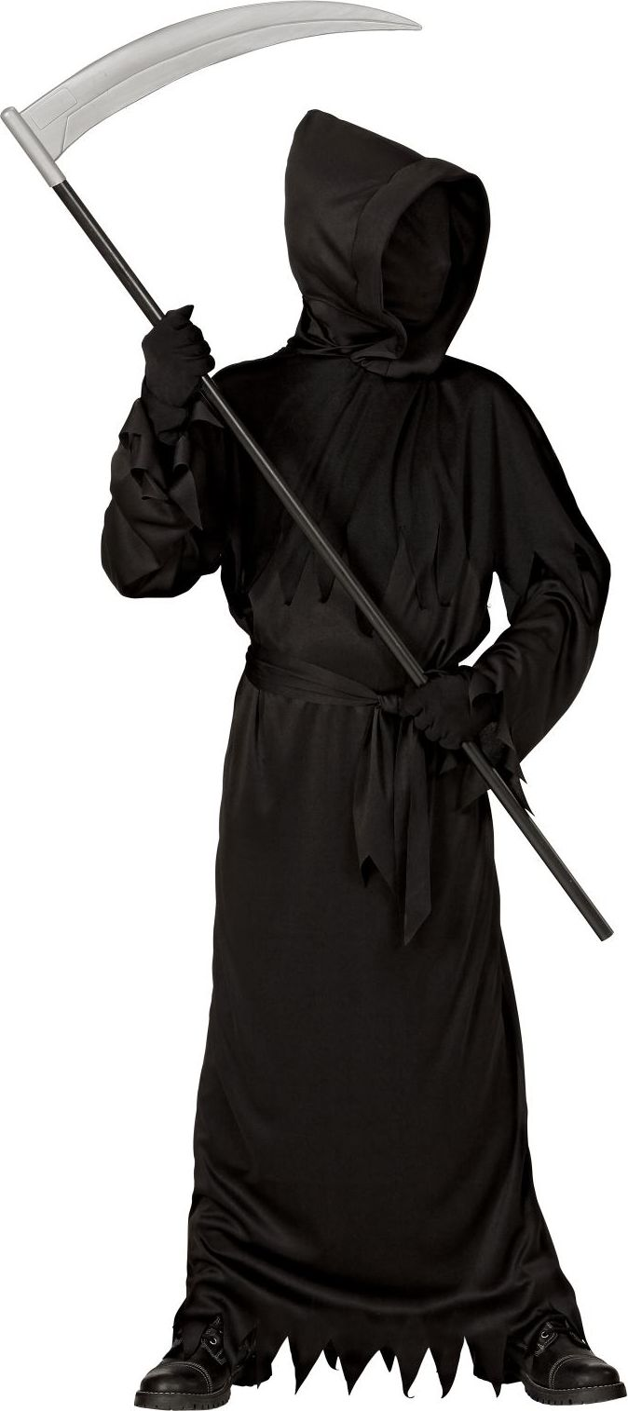 Zwart Grim Reaper gewaad kind