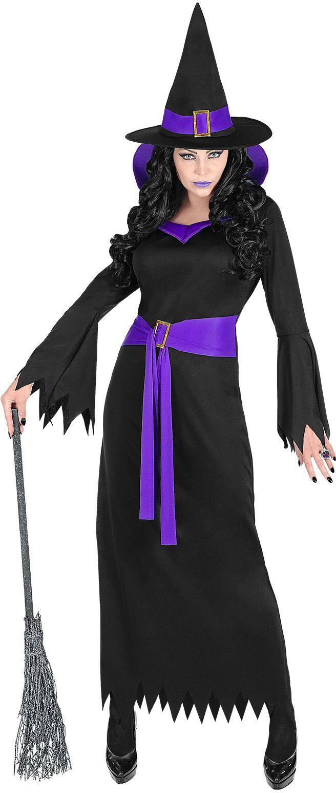 Zwart heksen kostuum dames