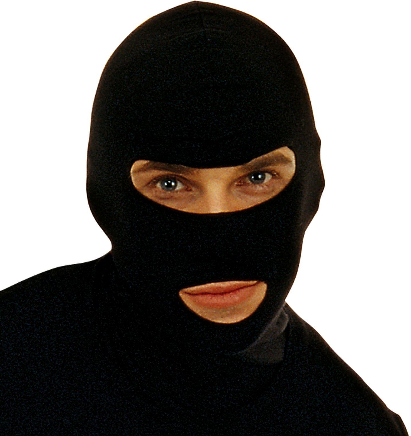 Zwart masker inbreker