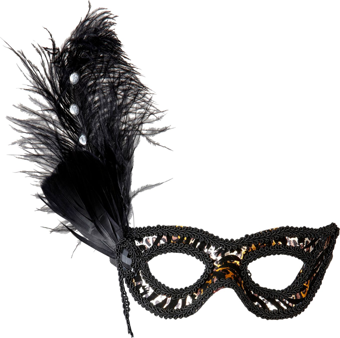 Zwart met luipaard print oogmasker