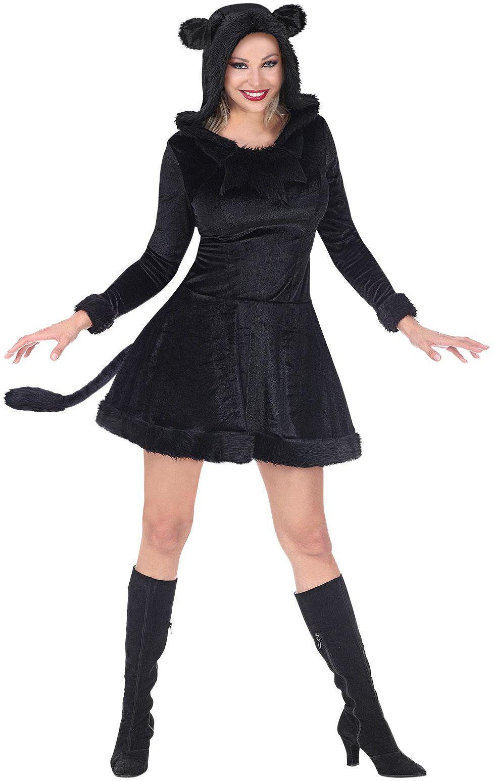 Zwart panter outfit vrouwen