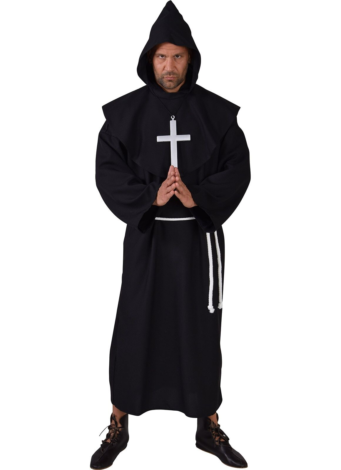 Zwart pater outfit man
