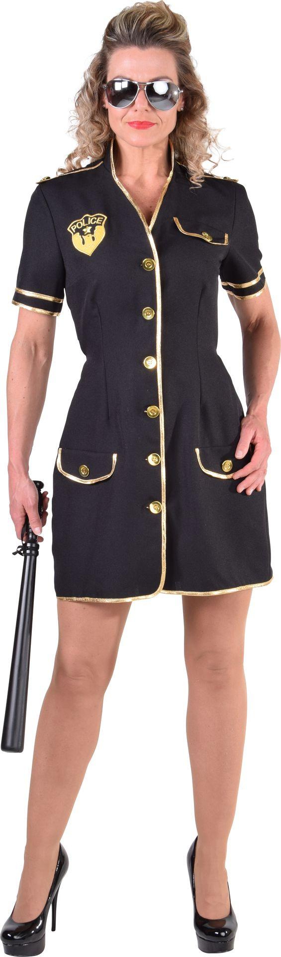 Zwart politie jurkje dames