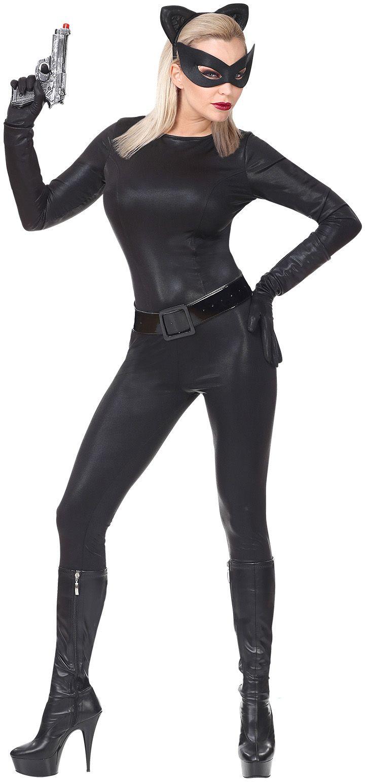 Zwart super cat pak vrouw