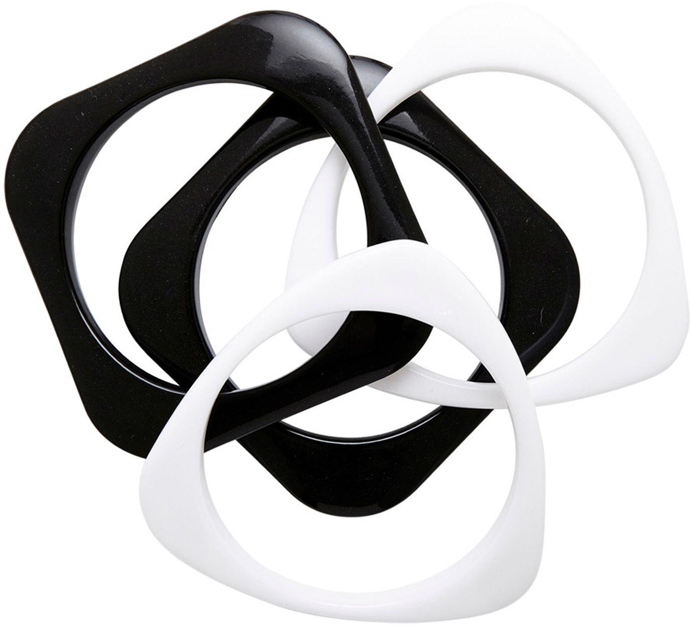 Zwart-witte disco armbanden 4 stuks