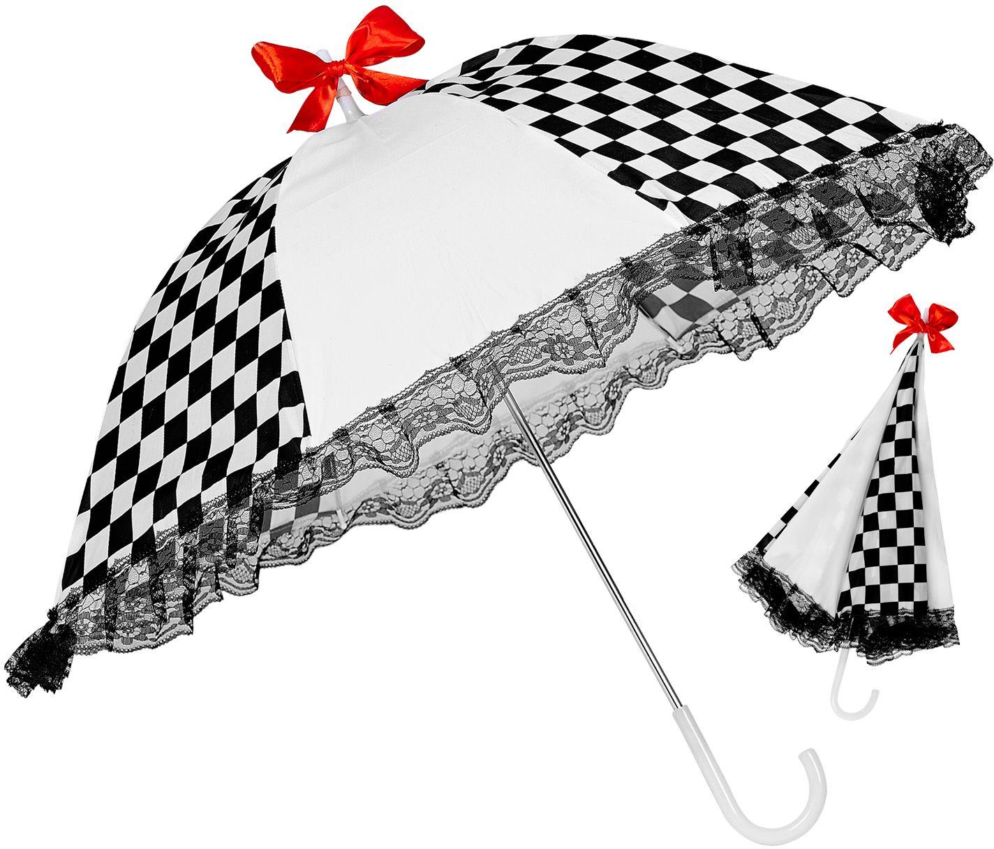 Zwart witte killer clown paraplu