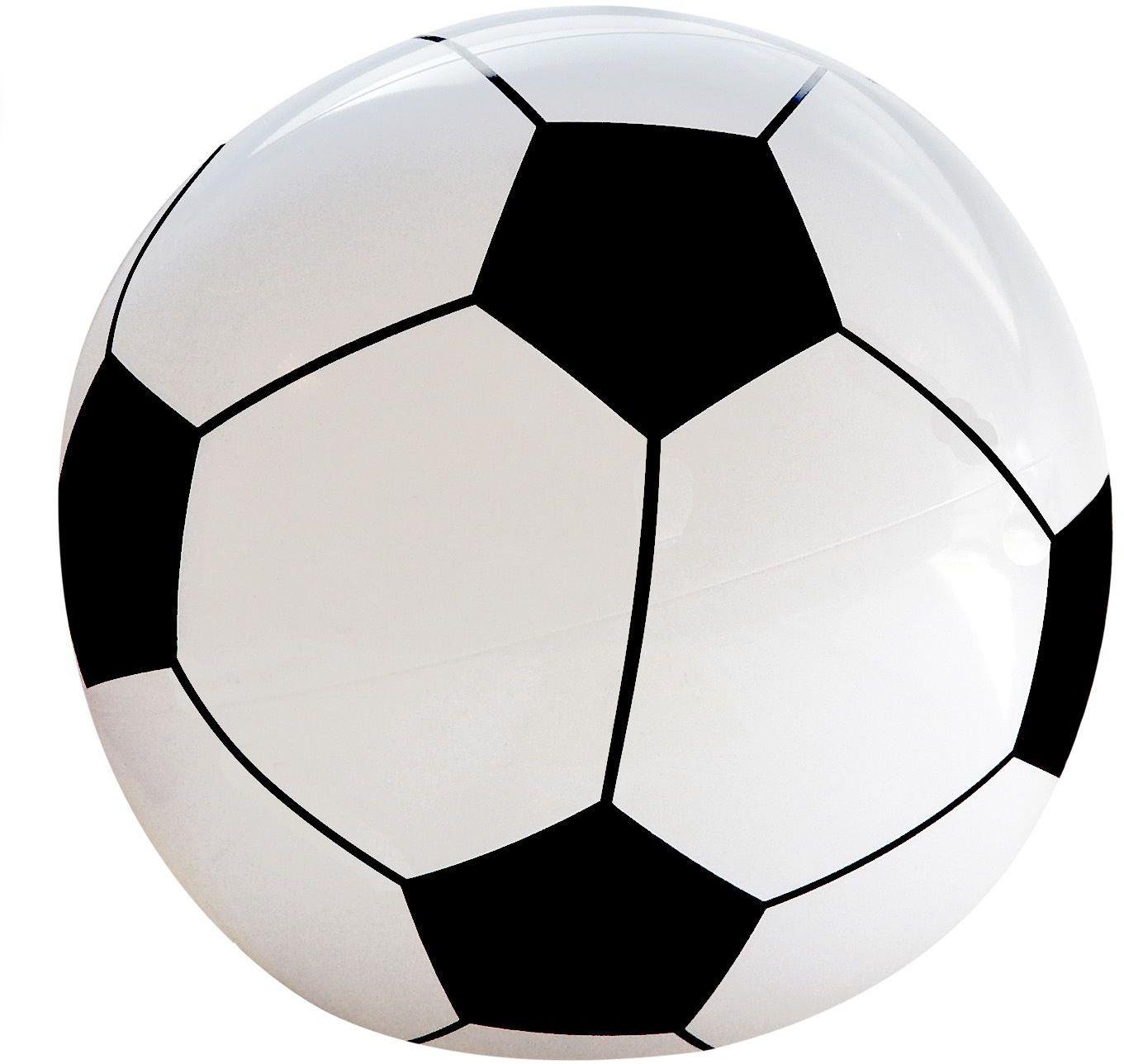 Zwart witte opblaasbare voetbal