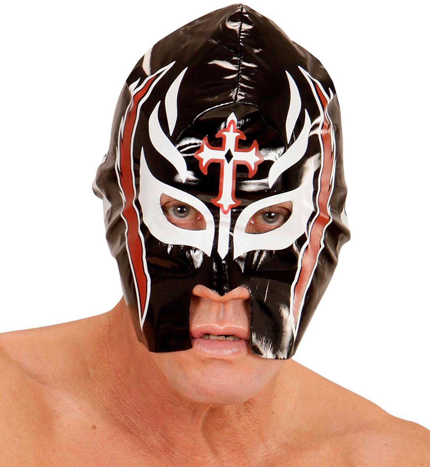 Zwart worstelaars masker