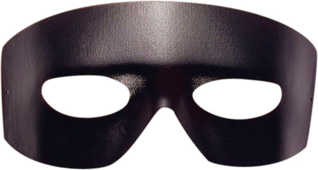 Zwart zorro oogmasker
