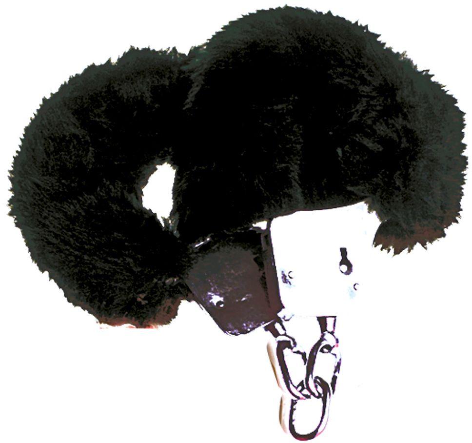 Zwarte bonten handboeien