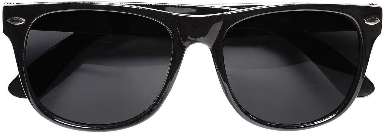 Zwarte bril met donkere glazen