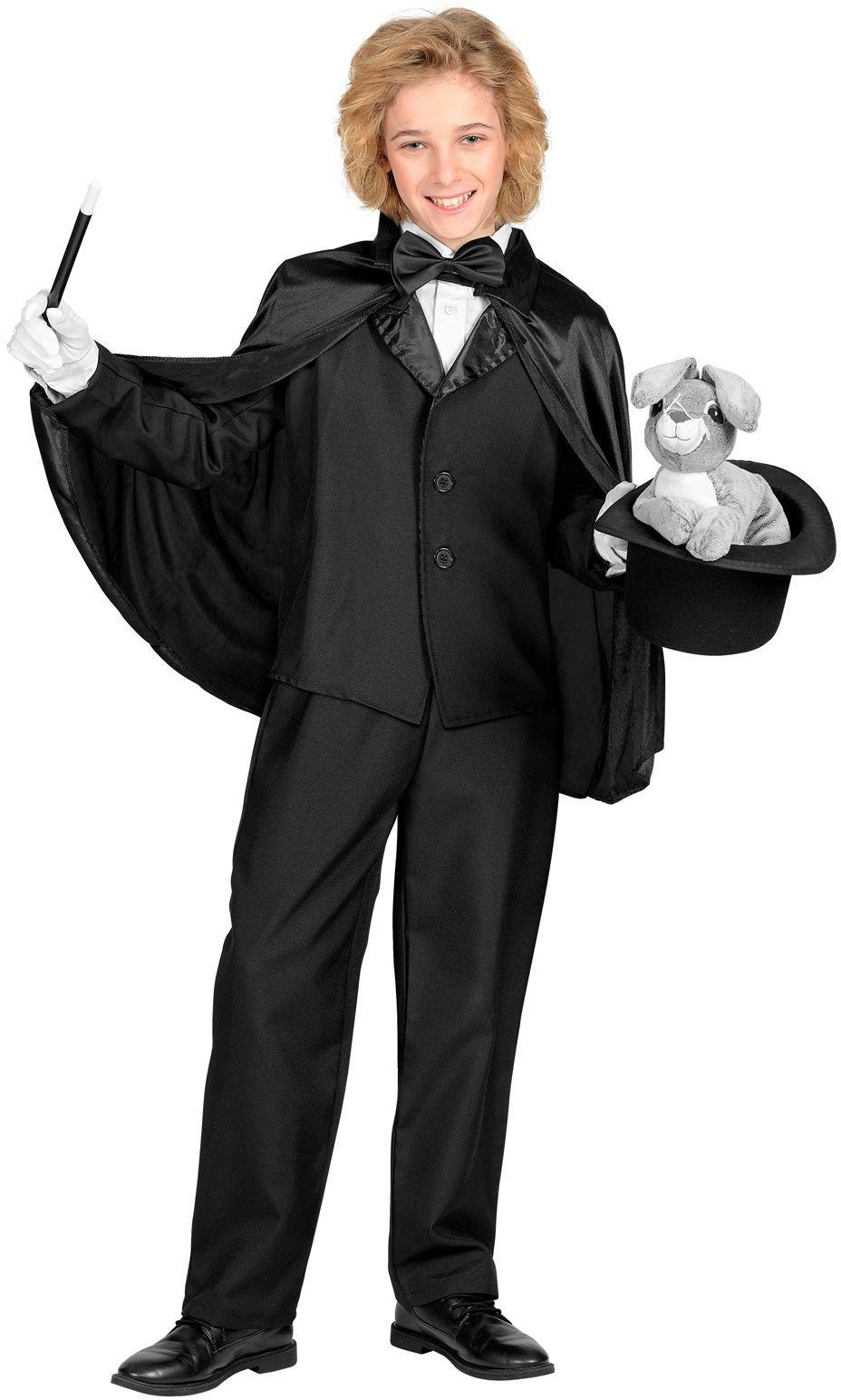 Zwarte cape kinderen 60cm