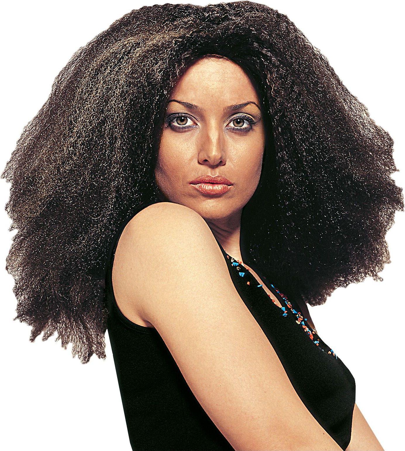 Zwarte Cariben pruik