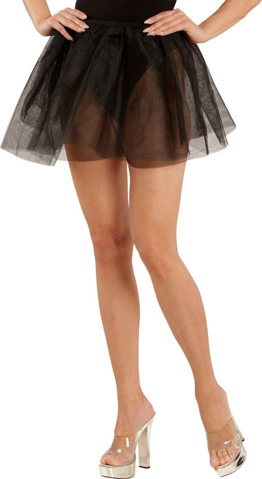 Zwarte danseres petticoat One-size-volwassenen