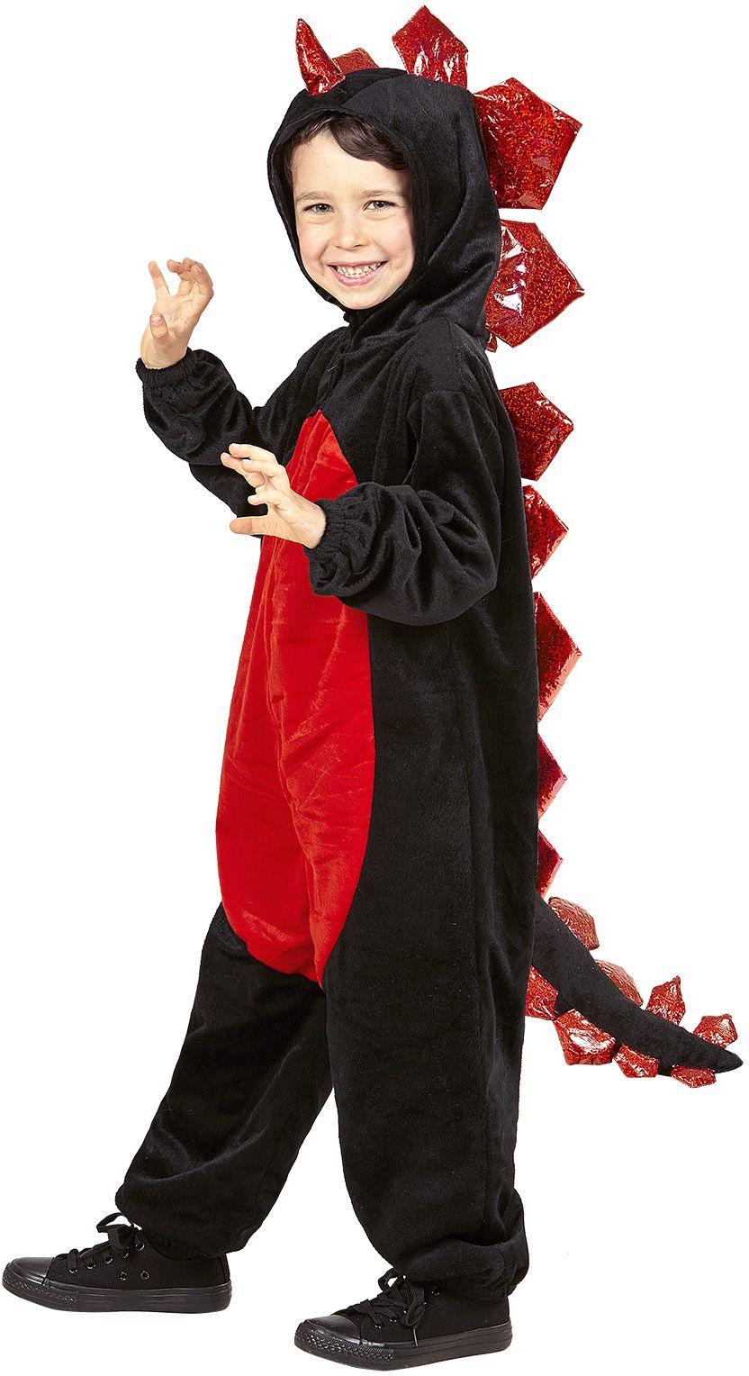 Zwarte draken kostuum kind
