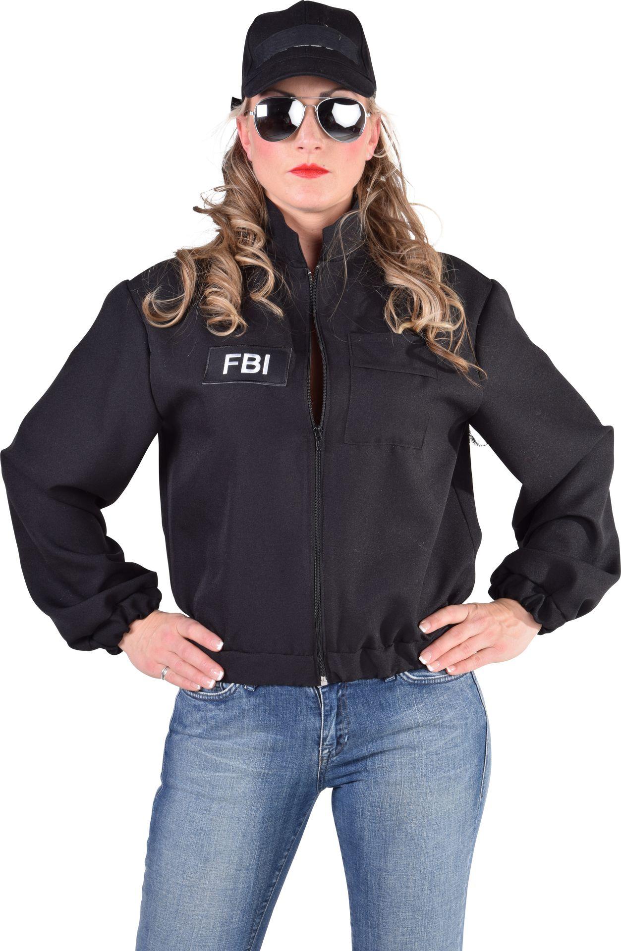 Zwarte FBI politie jas dames
