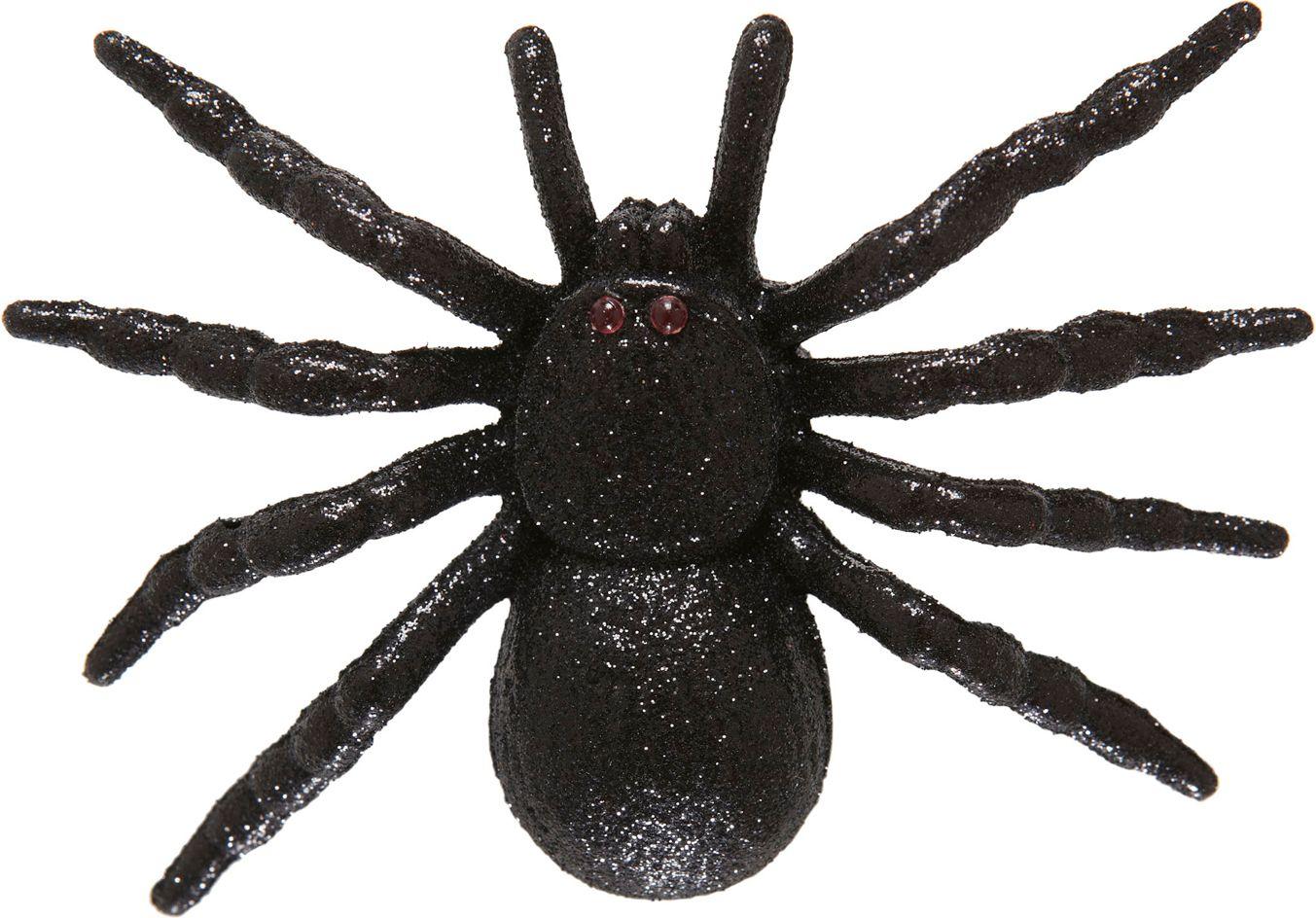 Zwarte glitter spin haarspeld