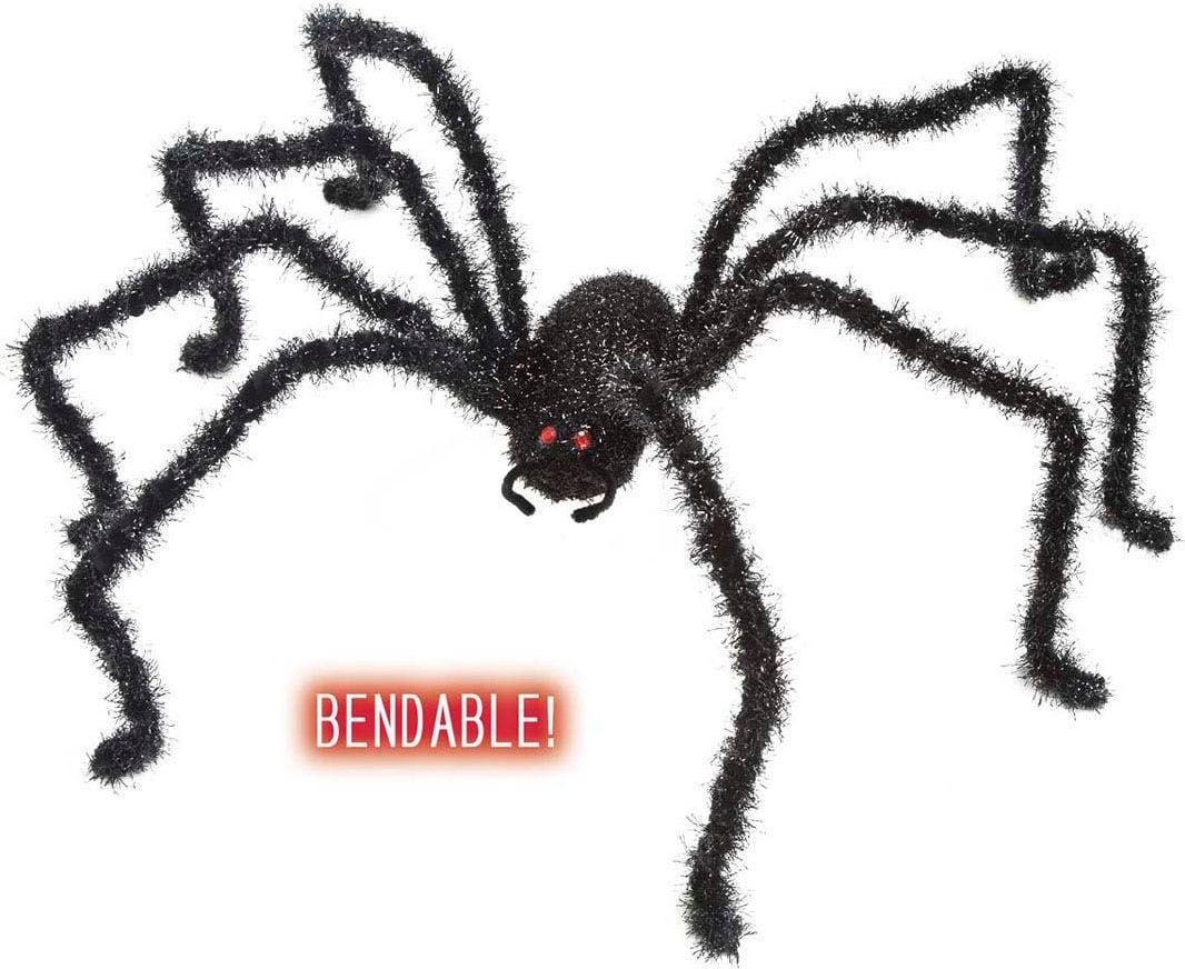 Zwarte glitteren spin