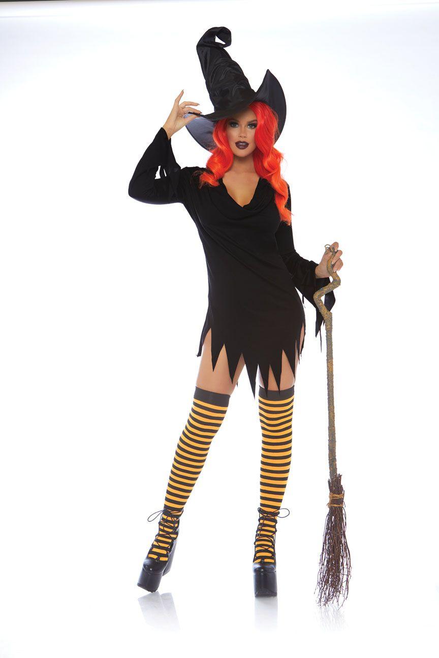 Zwarte heks jurk