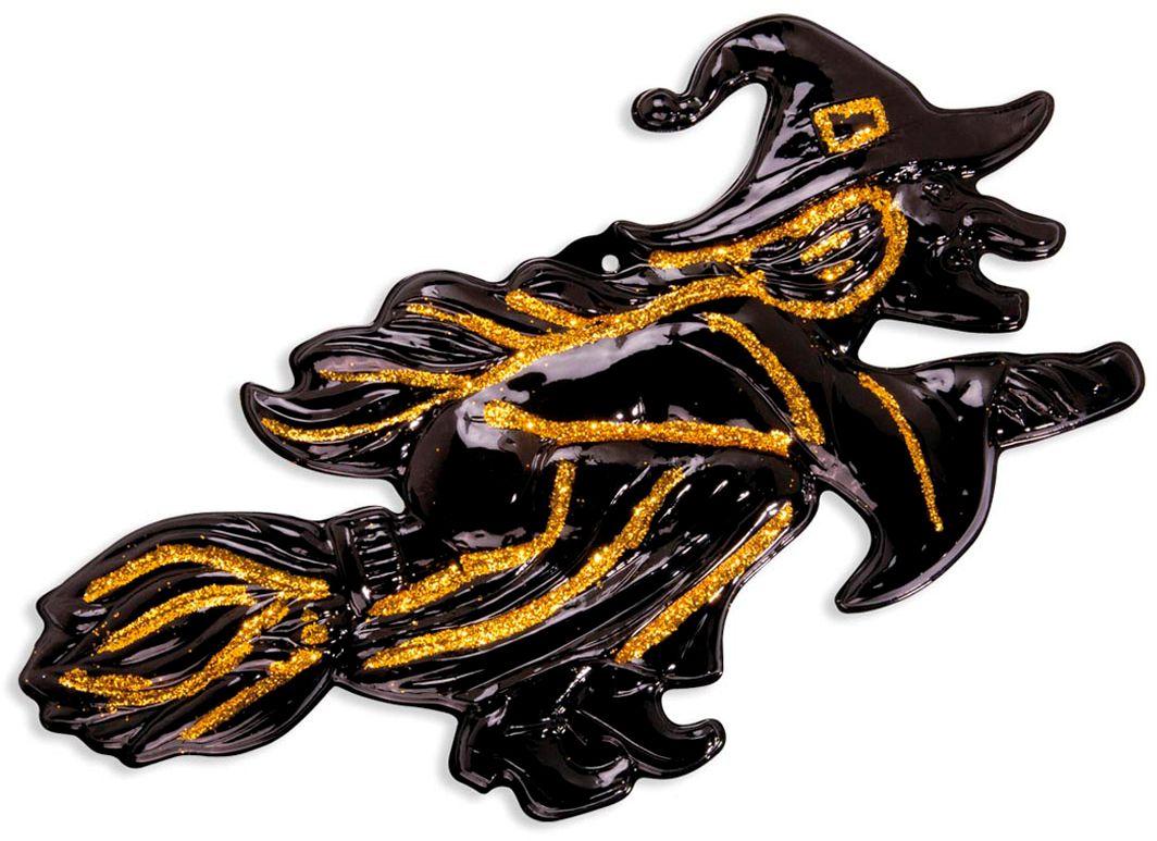 Zwarte heks met gouden glitters