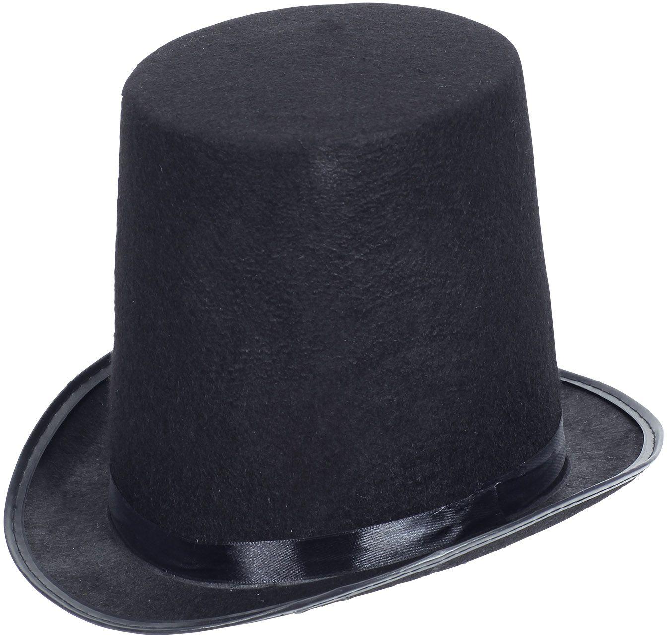 Zwarte hoge circus hoed